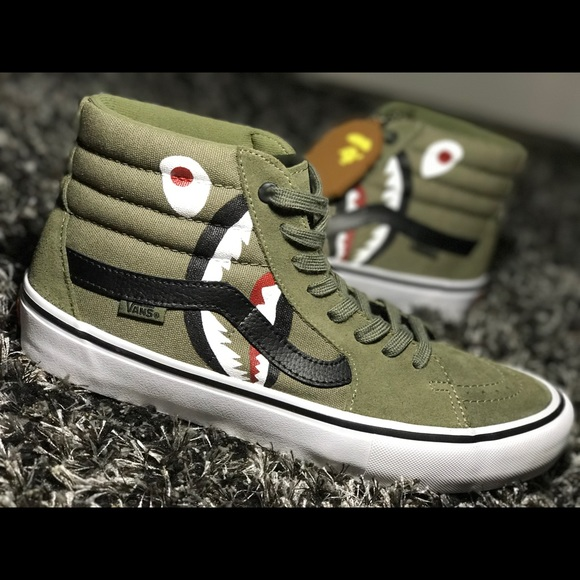 1c83f61452 Bape x Vans high top Custom s. M 5aa7c4e12ae12f53079e7923. Other Shoes ...
